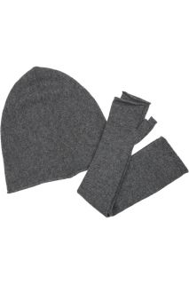 Tomas Maier Cashmere hat and fingerless gloves set   59% Off