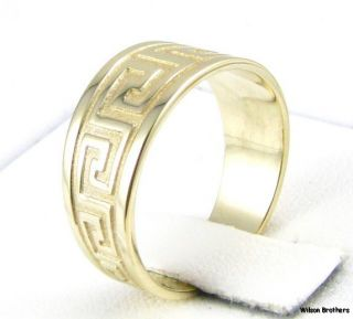 Greek Design Womens Fashion Ring   14k Solid Gold Italian Solid Back