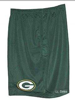 Green Bay Packers NFL Team Apparel Licensed Mesh Shorts