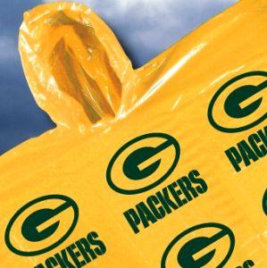 Hooded Poncho Rain Coat Gear Green Bay Packers Football
