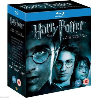 Potter Complete 8 Film Collection Special 11 Disc BLU RAY DVD Box Set