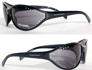 Harley Davidson Ladies Studded Bling Black Frame Sunglasses
