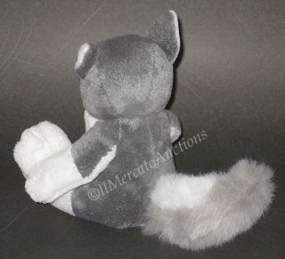 Russ Berrie Henry Stuffed Plush Grey White Wolf Toy 7