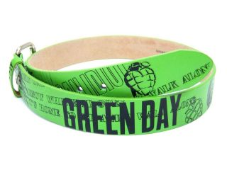 Green Day Green American Idiot Grenade Collage Belt New Mens 34