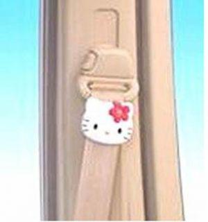 Genuine Sanrio 2pc Hello Kitty Car Auto Seat Safety Belt Stopper Clip