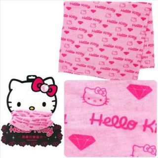 hello kitty soft bike hiking bandana head scarf pink