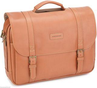 Hartmann Luggage Belting Leather Saddle Bag 17 Laptop Briefbag