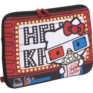 Hello Kitty 3D Glasses Popcorn Laptop MacBook Pro Notebook Case Bag