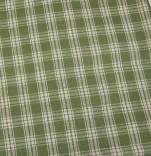 Country Green Tan Plaid Sturbridge Unlined Panels 72x63