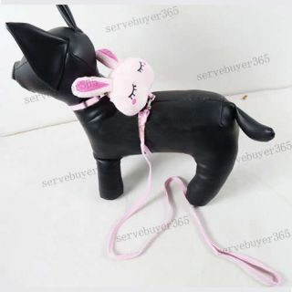 Cute Pet Cat Dog Doggie Puppy Harnesses Leash Backpack Rabbit Pattern
