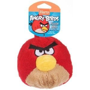Hartz Official Angry Birds Dog Toy Plush Ball w Soundchip Red Bird