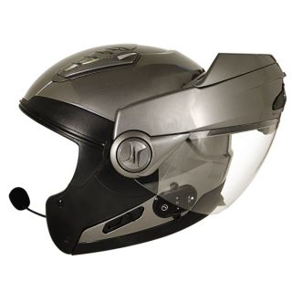 Hawk Bluetooth Transition 2 in 1 Gun Metal Modular Helmet