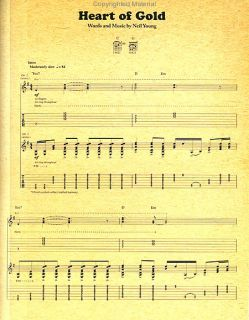 YOUNG   HARVEST   GUITAR RECORDED VERSIONS   SHEET MUSIC SONG BOOK
