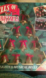 Mr. Christmas Bells of Christmas Lighted Musical Brass Bells Remote
