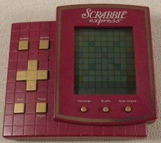 Hasbro SCRABBLE EXPRESS Electronic Handheld Game w/Instructions   Ex