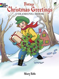 New Vintage Christmas Greetings Coloring Book