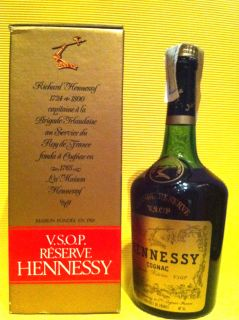 Hennessy Cognac Grande Reserve VSOP Box Captain Richard Vintage Bottle