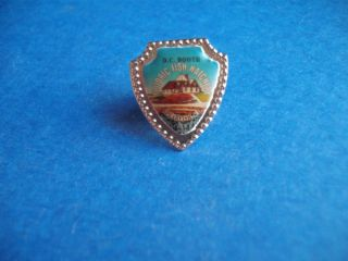 SPEARFISH S D HISTORIC FISH HATCHERY DC BOOTH VINTAGE BUTTON PIN