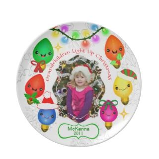 Grandmother Custom Photo & Text Christmas Plate