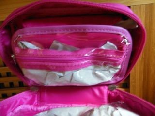 Lori Grenier Quilted Make Up Cosmetic Travel Case Pink New SEALED