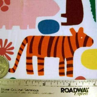 Alexander Henry 2 D Zoo Primary Animals Fabric yd 2D