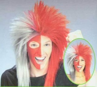 Red Ohio Scarlet Gray Grey Buckeyes Wig Costume State 1