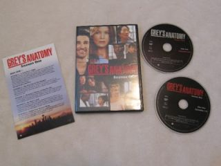 Greys Anatomy Season 1 Season 2 Season 3 DVD LOT ~ uncut ~ extended