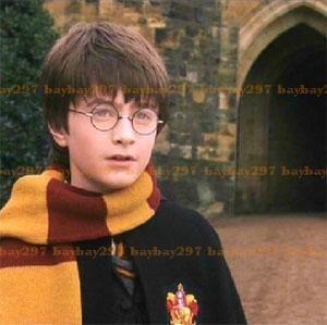 Harry Potter Gryffindor Costume Knit Scarf Gold Dark Red