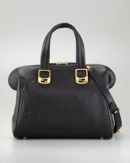 V1AVH Fendi Chameleon Small Tote Bag, Black