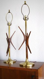 Mid Century Danish Modern Starburst Lamps Eames Era
