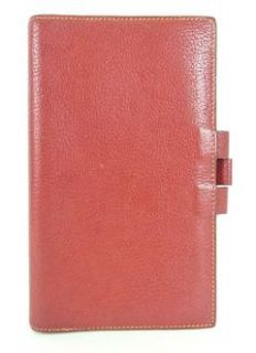 Authentic Hermes Red Leather Agenda Cover Notebook Made in France