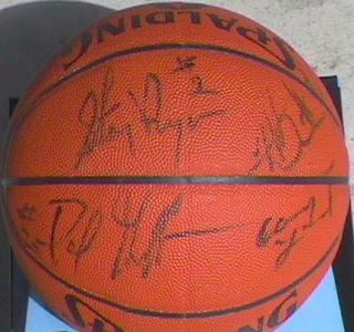 Atlanta Hawks Team Signed Basketball Dominique Wilkins Stacey Augmon 8