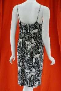 Diane Von Furstenberg DVF Black Warhol Dress Cover S