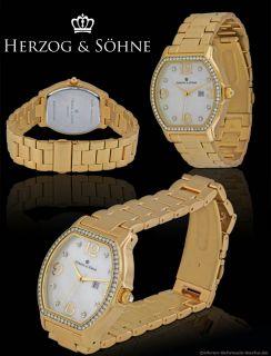 herzog soehne lady watch indelible ip gold oe36mm new wonderful