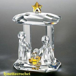 Crystal Nativity Scene Figurine Collector Creche New in Box