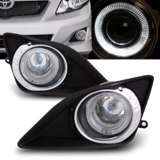09 10 Toyota Corolla Chrome Ring Style Halo Angel Eyes Fog Lights Kit
