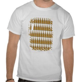 Bottles of beer on white background tee shirt