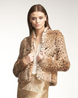 Haute Hippie Cheetah Print Fur Jacket