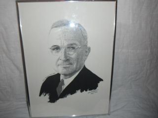 FRAMED PROTRAIT OF HARRY TRUMAN