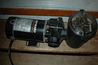HAYWARD POWER FLO1.5 HP ABOVE GROUND POOL PUMP W/CORD & STRAINER
