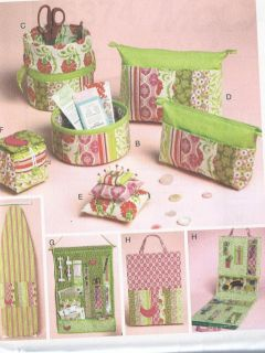 PATTERN FABULOUS SEWING CRAFT ROOM ORGANIZERS BAGS PIN CUSHIONS MORE