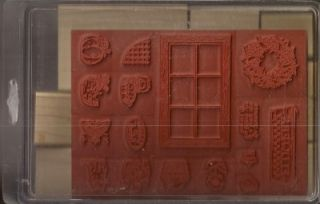 Stampin Up Set of 16 Retired Country Window Cat Pumpkin New Unmounted