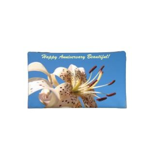Happy Anniversary Beautiful! Designer Cosmetic bag