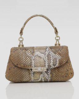 Judith Leiber Nabila Striped Python Clutch Bag