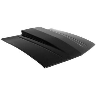 Harwood Hood 3 in. Cowl Style Bolt On Fiberglass Black Gelcoat Chevy