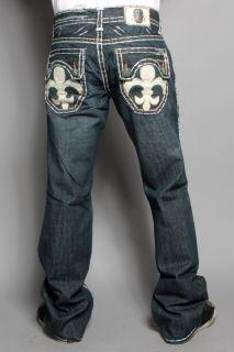 Mens Laguna Beach Jeans Hermosa Beach White Stitch Boot Cut