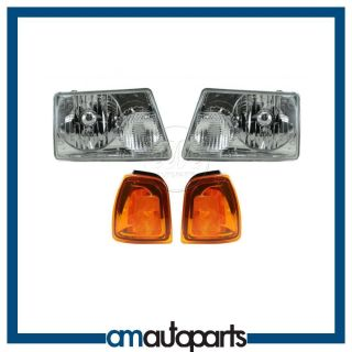 01 05 Ranger Headlights Headlamps Corner Parking Lights Left Right Set