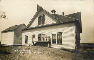 MN, Heron Lake, Minnesota, RPPC, Creamery, Milk Cans, St Paul Souvenir