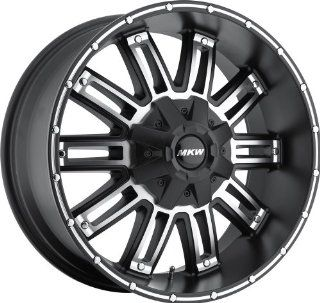 MKW Offroad M80 17 Black Machined Wheel / Rim 8x6.5 with a 10mm Offset