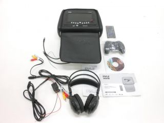 Pyle PLD72 7 Headrest Monitor with DVD Player Zipper Hide Away Cover